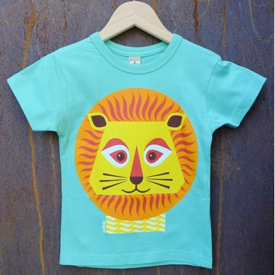 t-shirt coton bio lion