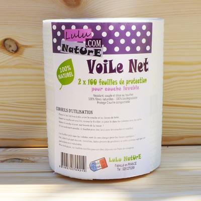 LULU NATURE voile de protection jetable pour couche lavable Voile Net (x100 feuilles)