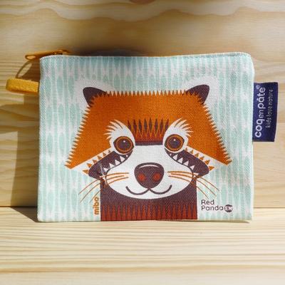 COQ EN PATE porte-monnaie panda roux coton bio