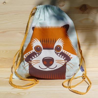 COQ EN PATE sac d'activité panda roux coton bio