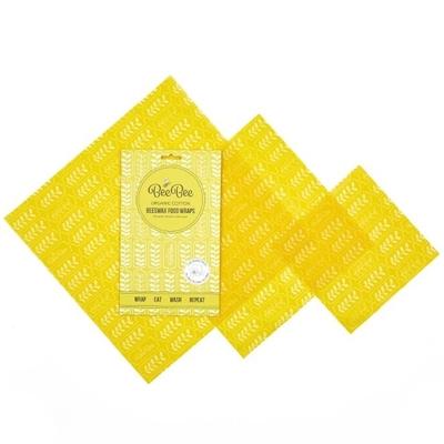 emballage cire d'abeille d'abeille/coton bio blés (lot de 3)