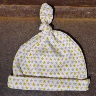 bonnet bébé coton bio étoiles de mer