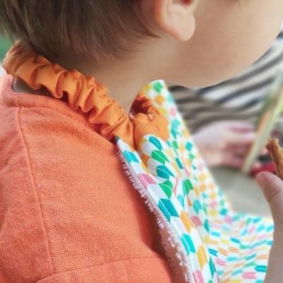 bavoir/serviette de table enfant coton bio