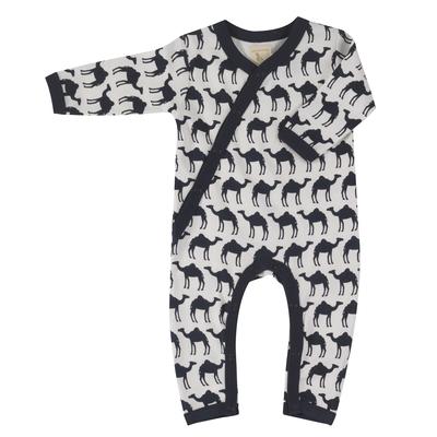 Pyjama bébé - 100 % coton bio - Chameau bleu nuit