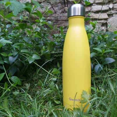 QWETCH bouteille isotherme inox pop jaune 500 ml