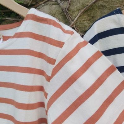 Robe marinière - 100 % coton bio - terre de Sienne