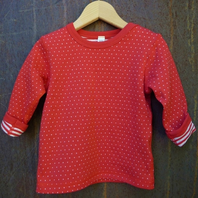t-shirt réversible coton bio hibiscus
