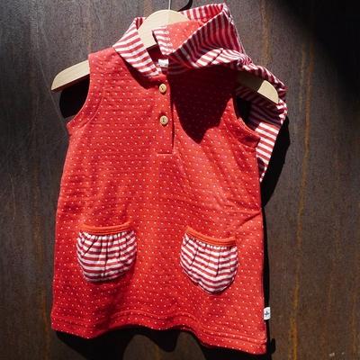 robe à capuche coton bio hibiscus