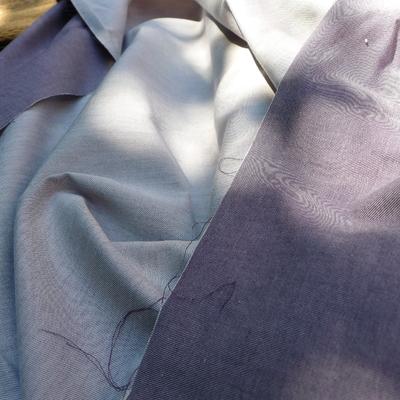 Chambray - 100 % coton bio - Diabolo violette