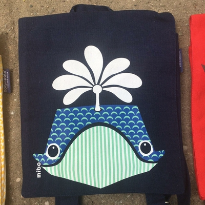 sac à dos - 100% coton bio - baleine