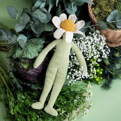 Camille camomille - poupée fleur - 100% coton bio