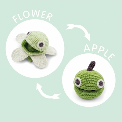 Elton la Pomme - jouet réversible - 100% coton bio