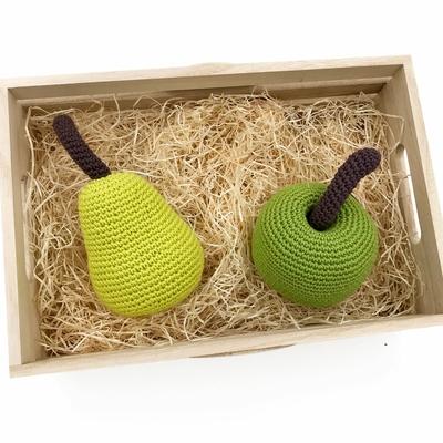 Fruits - doudou, hochet, jouet - 100% coton bio