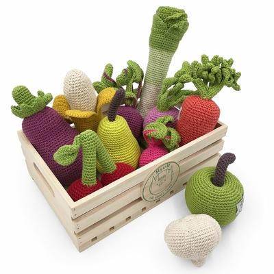 Légumes - hochet, doudou, jouet - 100% coton bio