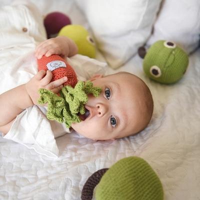 Hochets fruits et légumes - 100% coton bio