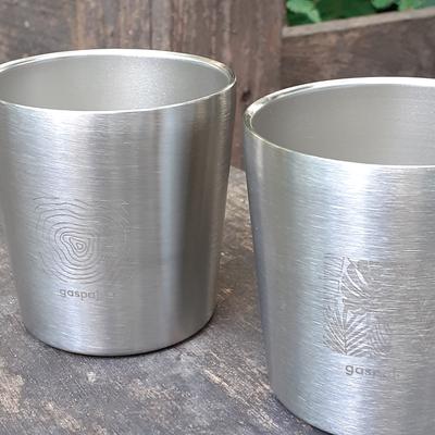 Gobelet / Tasse inox - 180 mL - double-paroi