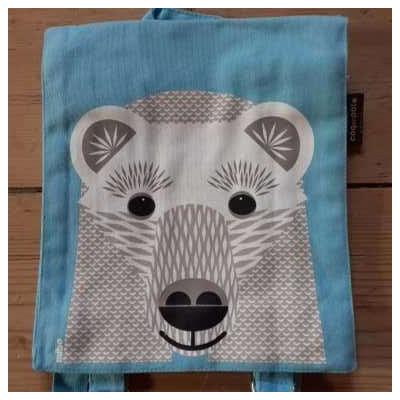 sac à dos - 100% coton bio - Ours blanc