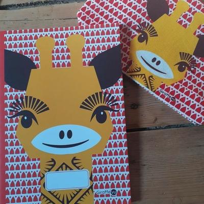 Cahier A5 - Papier recyclé - Girafe