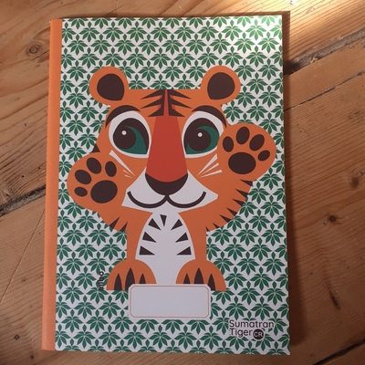 Cahier A5 - Papier recyclé - Tigre