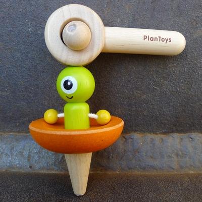 PLAN TOYS toupie soucoupe volante en bois