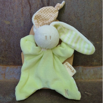 doudou coton bio little toddel lime