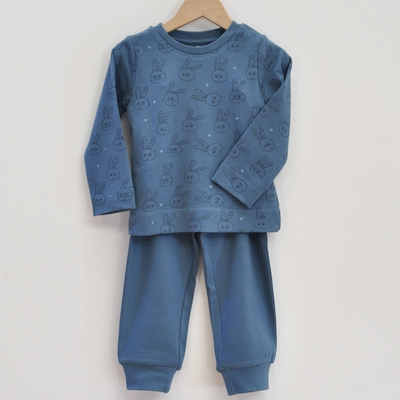 pyjama enfant coton bio bleu pan