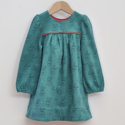 robe enfant coton bio vert émeraude
