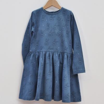 robe enfant coton bio bleu pan