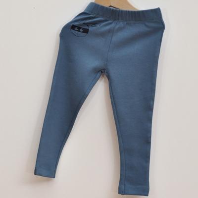 legging coton bio bleu pan