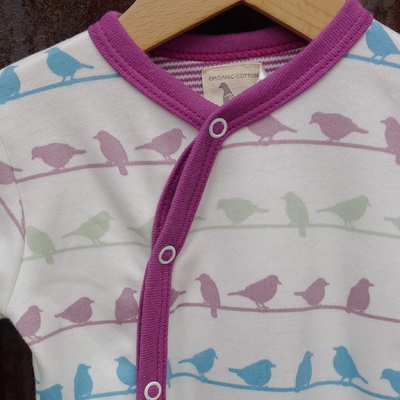 PIGEON pyjama bébé coton bio oiseaux