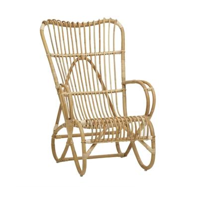 KOK MAISON fauteuil  rotin naturel Marlène
