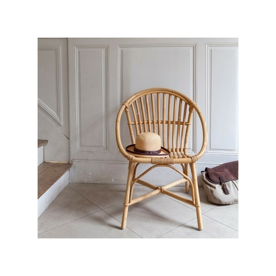 KOK MAISON fauteuil rotin naturel Bruno