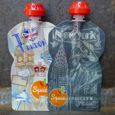 gourde souple Londres/New York 130 ml (lot de 2)