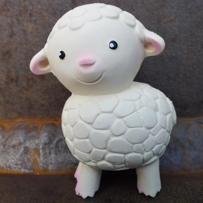 hochet caoutchouc naturel agneau