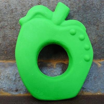 anneau de dentition caoutchouc naturel pomme