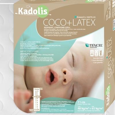 KADOLIS matelas bébé coco et latex