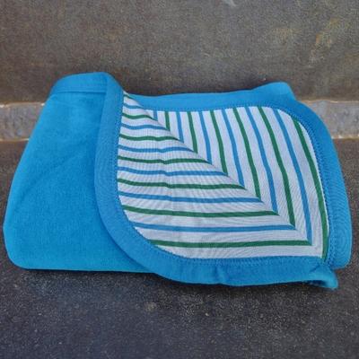 couverture bébé velours coton bio océan