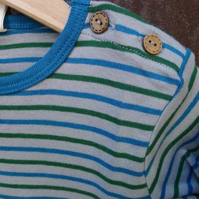 t-shirt manches longues coton bio perle