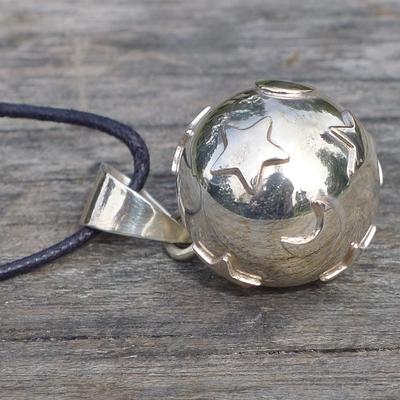 bola argent boule étoiles lunes - bijou de grossesse