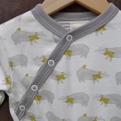 PIGEON pyjama bébé coton bio blaireaux