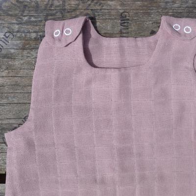 KADOLIS gigoteuse été mousseline de coton bio rose poudre
