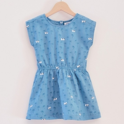 LA QUEUE DU CHAT robe fille coton bio long beach