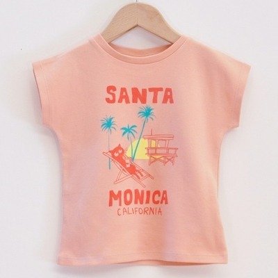 LA QUEUE DU CHAT t-shirt fille coton bio Santa Monica