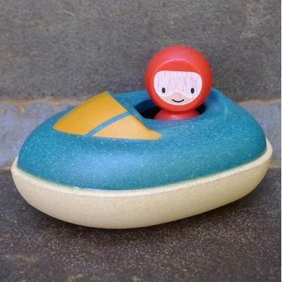 PLAN TOYS hors-bord en bois pour le bain