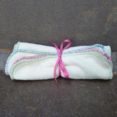 MON PETIT OKO lingettes lavables carrées coton bio (lot de 3)