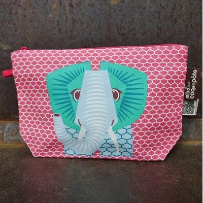COQ EN PATE trousse coton bio éléphant