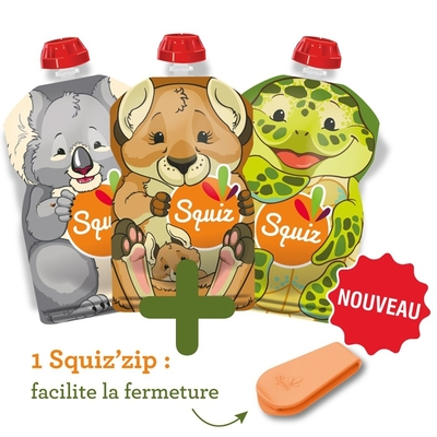 SQUIZ gourde souple Australia 130 ml (lot de 3)