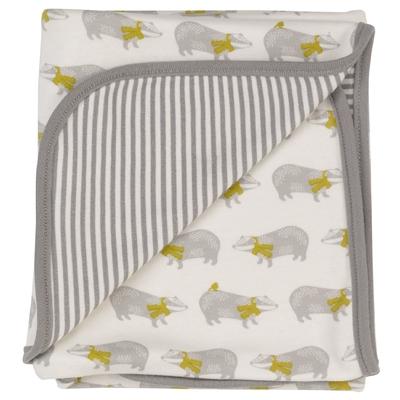 PIGEON ORGANICS couverture bébé coton bio blaireaux