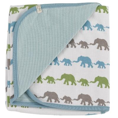 Couverture - 100% coton bio - éléphants