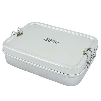 A SLICE OF GREEN Rampur lunch box inox (700 ml) + petite boite